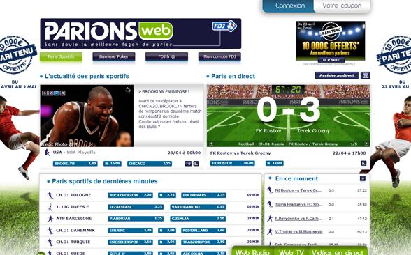 parionsweb liste parions sport