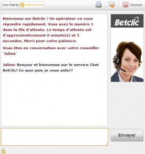 live chat assistance betclic
