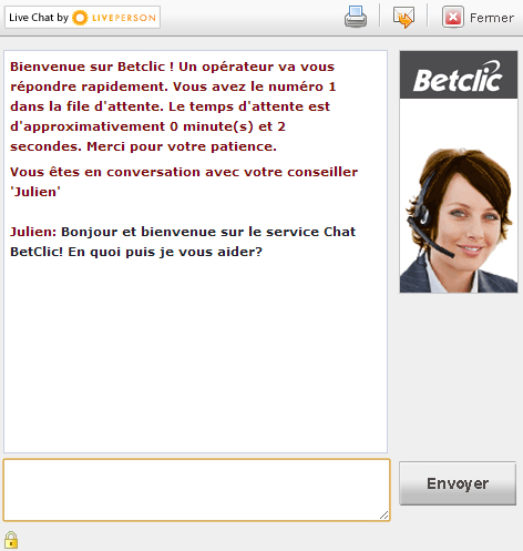 live chat assistance betclic