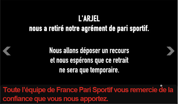 france pari sportif arjel