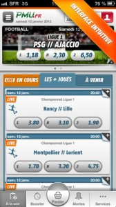paris sportifs mobile tablette PMU