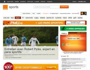 PMU partenaire Orange.fr pronostic