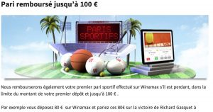 Bonus Winamax 100 euros
