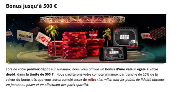 Bonus Winamax Poker