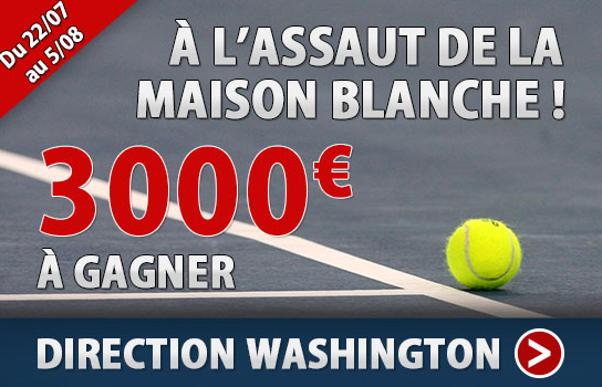 3000 sur le tournoi de tennis de washington france pari for Assaut sur la maison blanche bande annonce