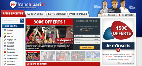 bookmaker france pari, paris sportifs