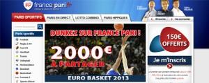 france pari sportifs basket euro