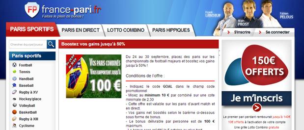 france pari combinés football