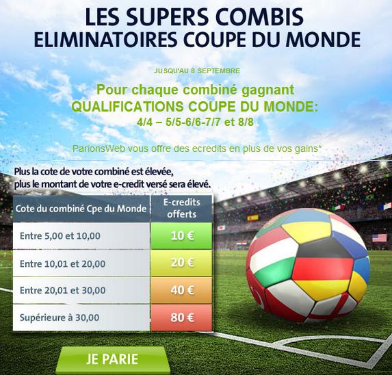 parionweb coupe du monde 2014 combiné