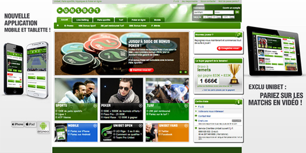 mobile unibet paris sportifs iphone android