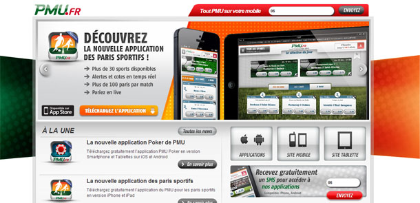 PMU paris sur mobile