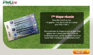 PMU places PSG Lille