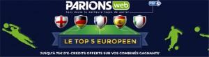Top 5 Européen : opération ParionsWeb