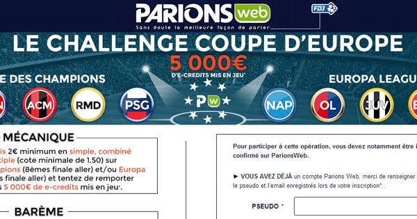 Paris en ligne chez ParionsWeb