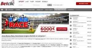 Concours BetClic : Bonus Race