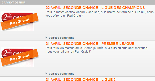 Seconde Chance PMU