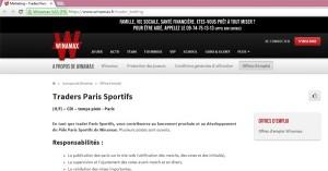 Winamax trader paris sportifs