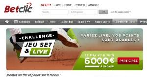 """BetClic : """"Jeu Set et Live"""" sur Roland Garros 2014"""