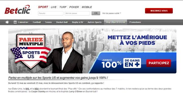 Calendrier Betclic.Betclic Sport Us 100 De Bonus Sur Les Paris Combines