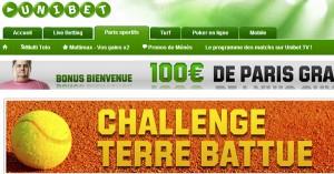 Challenge tennis Unibet