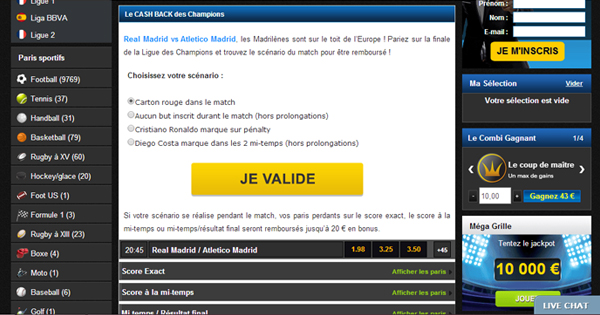 Netbet : Cash Back Ligue des Champions