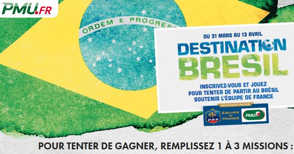 Le PMU a organisé un challenge pour le Brésil 2014