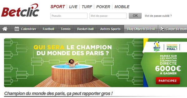 BetClic : Challenge Coupe du Monde