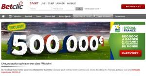 BetClic : 500.000€ si la France gagne