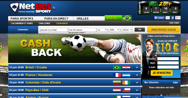 Cash back Netbet : Coupe du Monde
