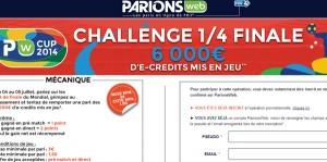 ParionsWeb : Challenge 1/4 Finale