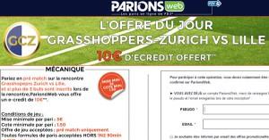 ParionsWeb : 10 euros de freebet