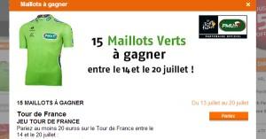 PMU : Tour de France et maillots verts