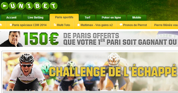 Unibet : promotion Tour de France