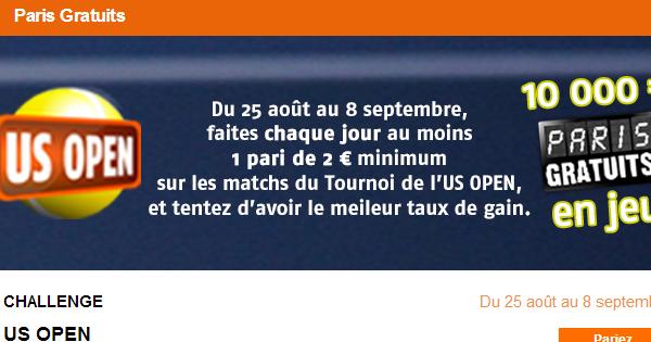 PMU offre 10.000€ sur l'US Open