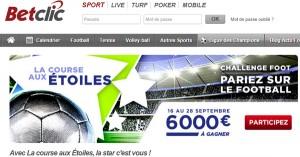 BetClic : La course aux Etoiles avec 6000€ en jeu