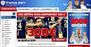 France Pari : Un bonus proportionnel au dépôt