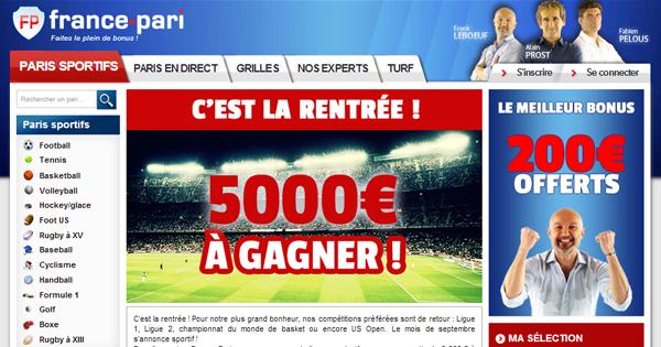 France Pari : 5000 euros de concours