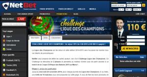 Netbet : Challenge Ligue des Champions