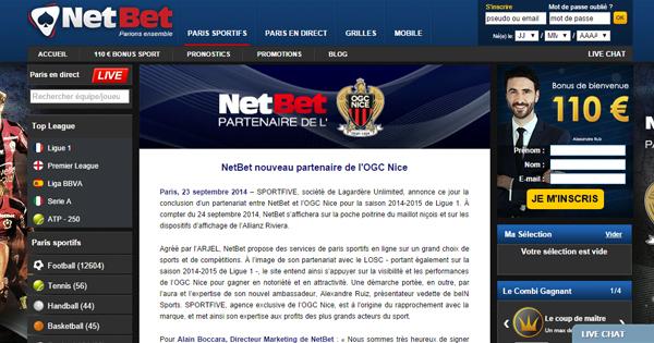 Netbet s'associe à l'OGC Nice