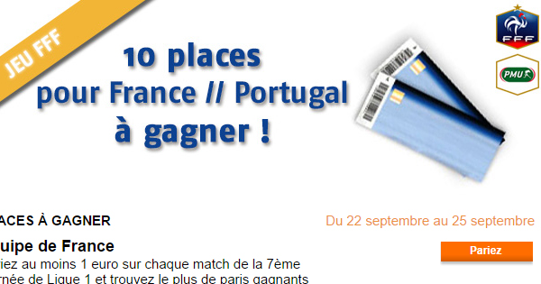 PMU : Billet France Portugal