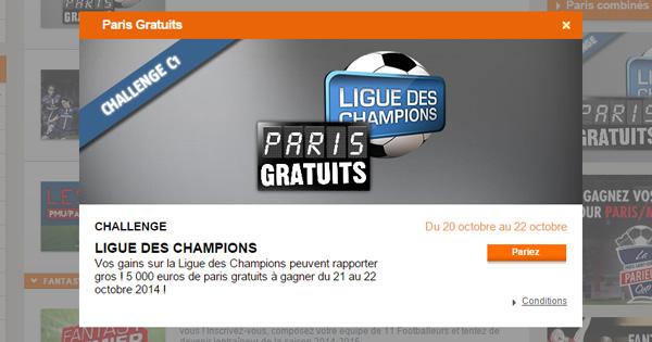Challenge PMU spécial Ligue des Champions