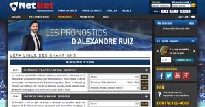 Pronostic Alexandre Ruiz sur Netbet