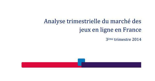 Rapport ARJEL T3 2014