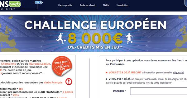 ParionsWeb : Challenge spécial Europe !