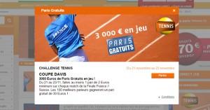 PMU : 3000€ sur la Coupe Davis