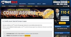 Netbet : Combi Assuré sur Europa League