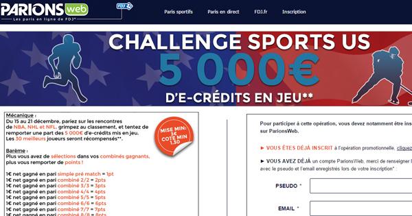 Challenge US chez ParionsWeb