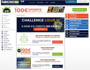 Les promotions ParionsWeb