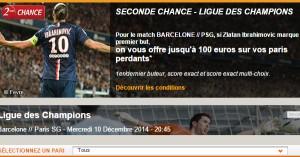 PMU : Seconde Chance PSG FC Barcelone