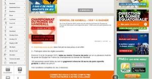 Bonus PMU sur le mondial de handball